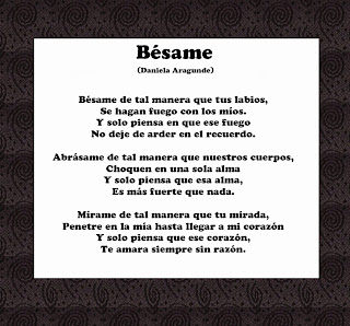 Poema de amor en español