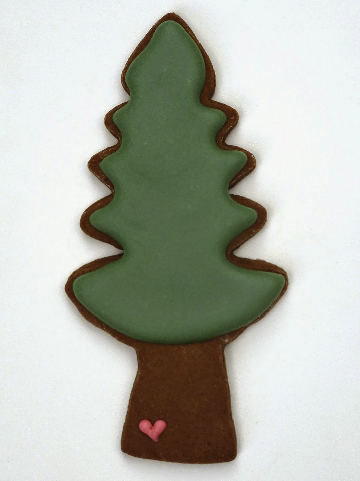 Decorated Tree Cookie with Heart on Trunk