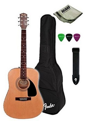 Fender FA-100 Acoustic Guitar Bundle With Gig Bag, Strap, Picks, Polishing Cloth for Rs 7999
