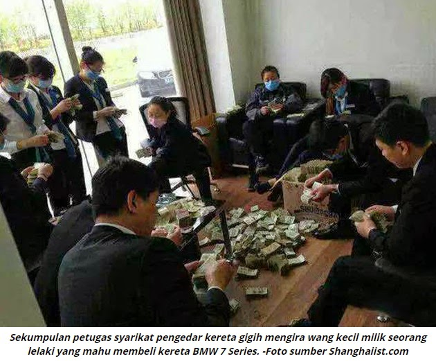 Lelaki China Beli BMW 7 Series Guna 100kg Wang Kecil