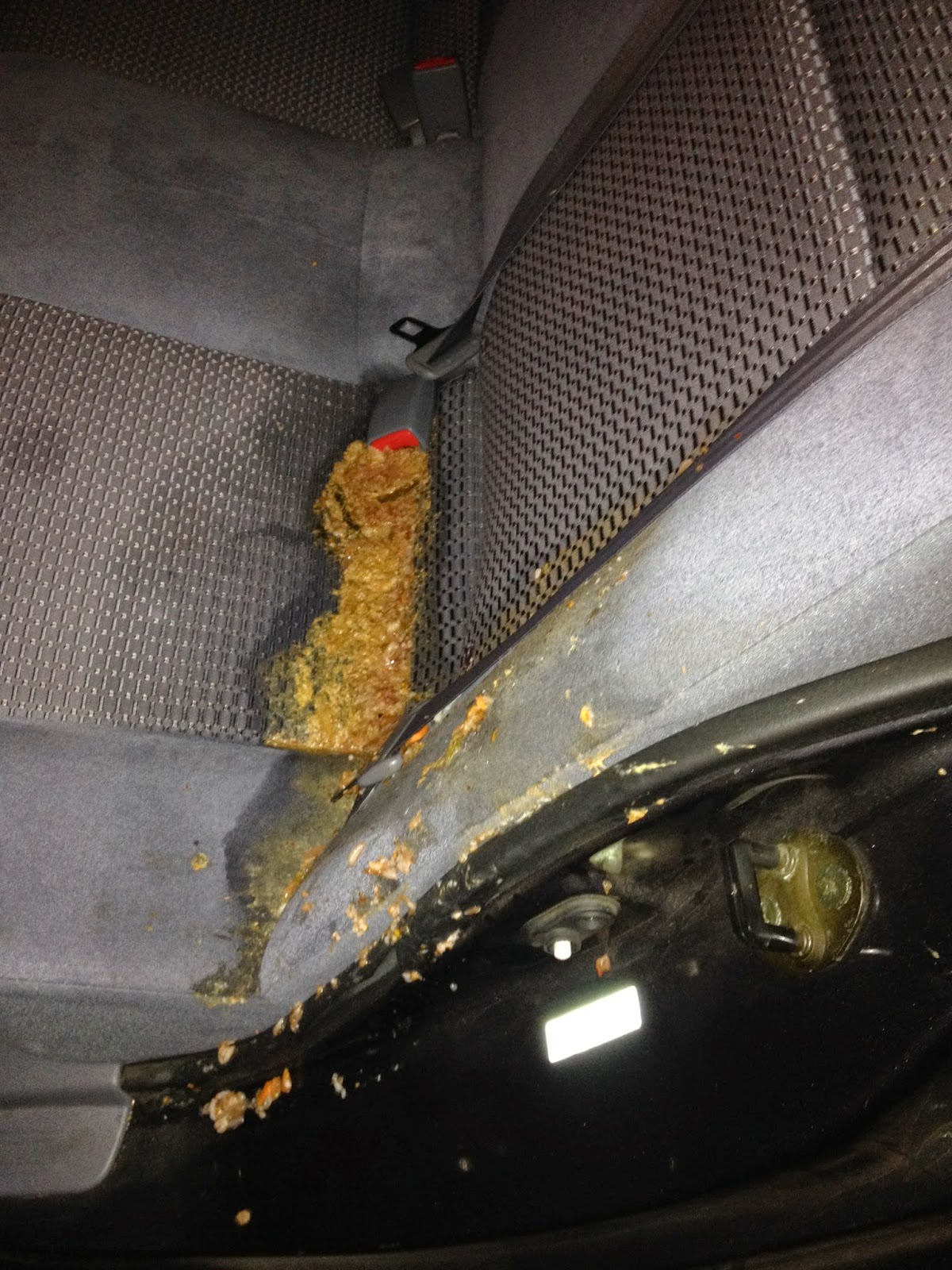 How To Clean Vomit From Car Seat