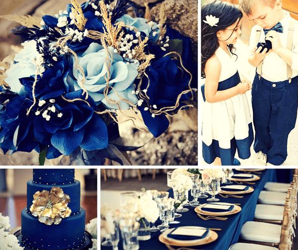тъмно синьо цвят за сватба