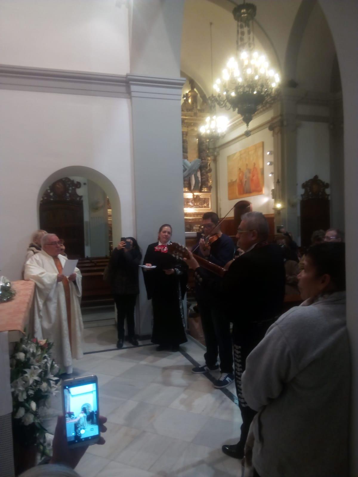 Celebració de la festivitat de la Mare de Déu de Guadalupe al Santuari