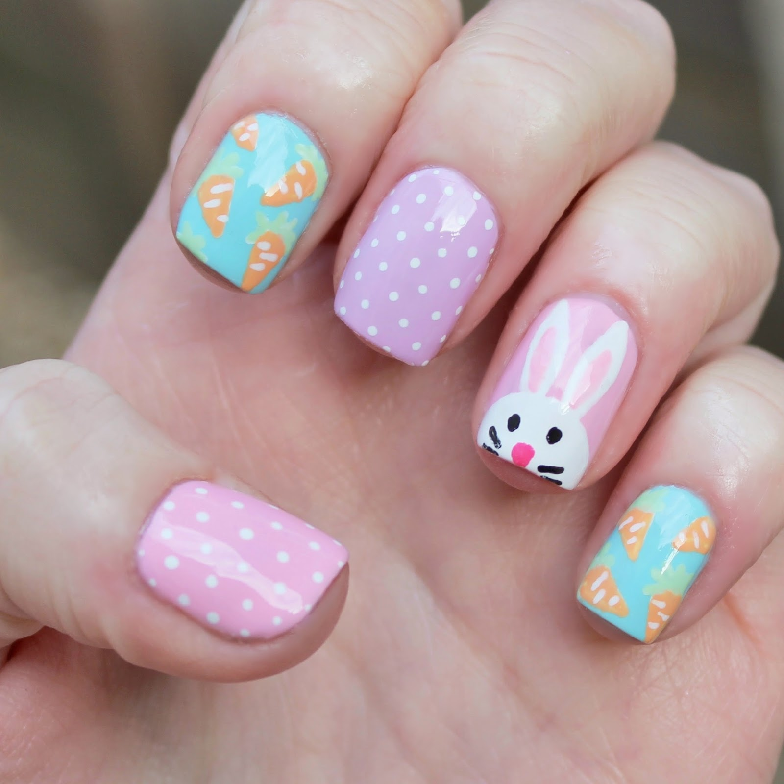 Dahlia nails march 2015 easter bunny for beauty at tesco prinsesfo Choice Image