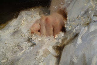 Detail of painting by John Singer Sargent - The Met exhibition New York City