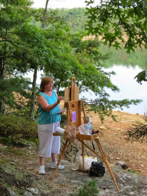 Double line painters of the blueridge plein air at for Carvins cove fishing