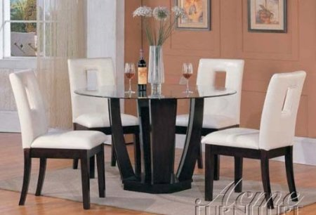 dining room table and chairs set interior decorating idea. Black Bedroom Furniture Sets. Home Design Ideas