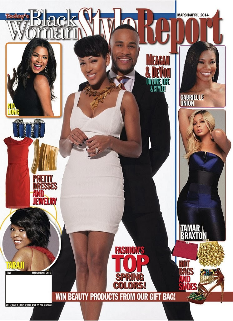 Meagan Good Photos from Black Woman Style  Magazine Cover March / April 2014 HQ Scans