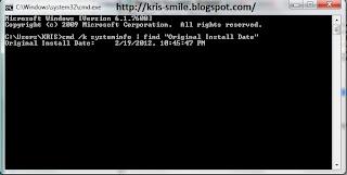 cara mengetahui tanggal terakhir installasi windows dikomputer-laptop