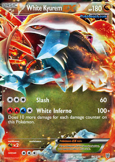 White Kyurem EX Plasma Storm Pokemon Card