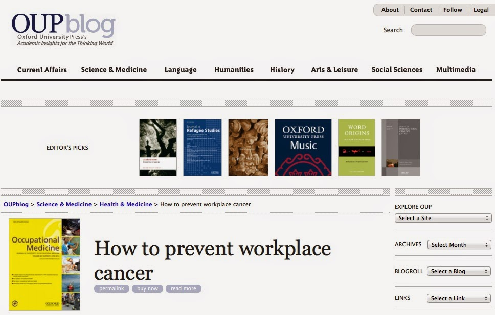 How to prevent occupational cancer…