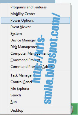 Win + X Power User Tasks Menu Windows 8