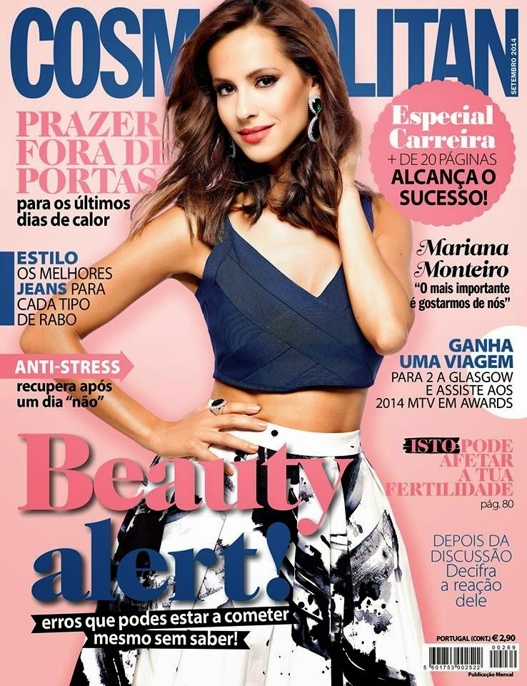 Mariana Monteiro - Cosmopolitan Magazine, Portugal, Setembro 2014