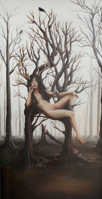 """The Daughter of Bones"" 2012 Oil painting by Janae Corrado"
