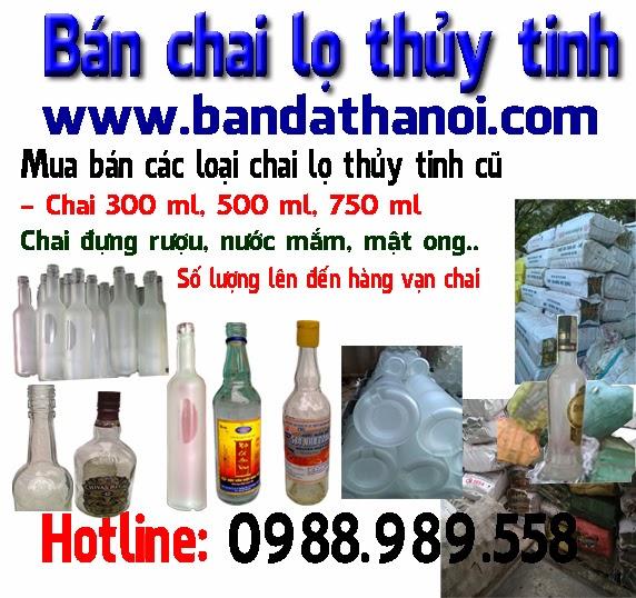 bán chai thủy tinh