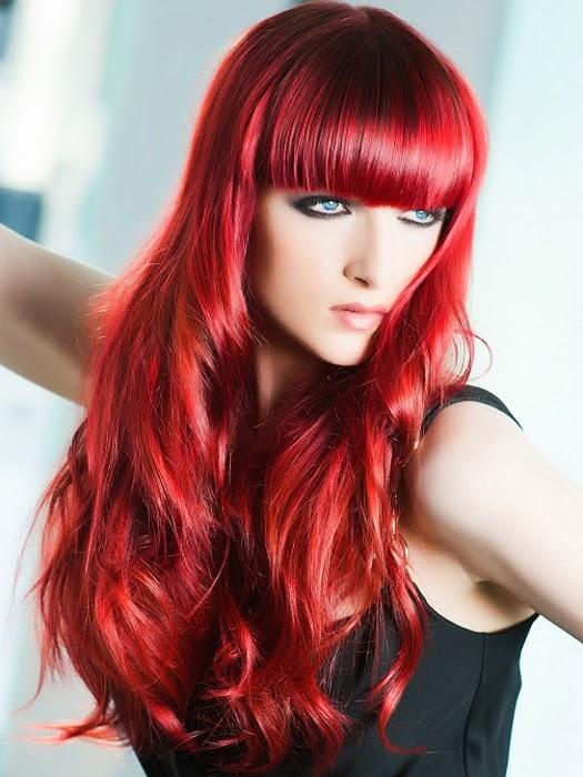 cortes de pelo tintes rojos para pelo largo 2017
