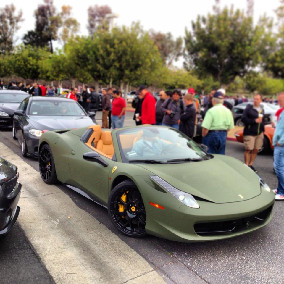 The Army Green Ferrari 458 Spider That's Like No Other