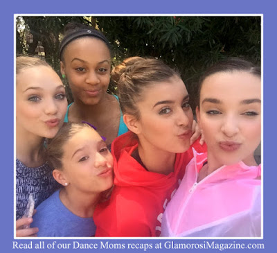 Cast members from Dance Moms on Lifetime TV