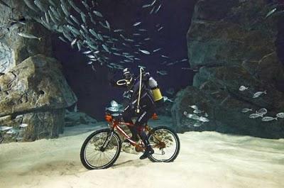 Italian Breaks Underwater Cycling Record