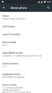 Custom ROM Carbon Terbaru Untuk Xiaomi Mi4i