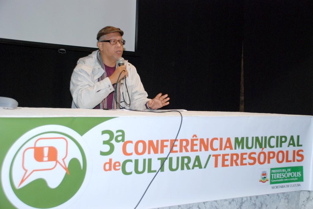 O produtor cultural Licko Turle foi palestrante e ainda eleito um dos delegados