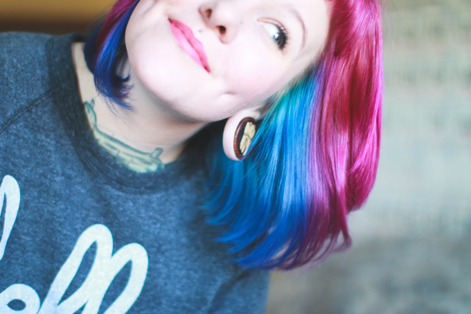 pink hair, blue hair, beyond the zone, punky colours
