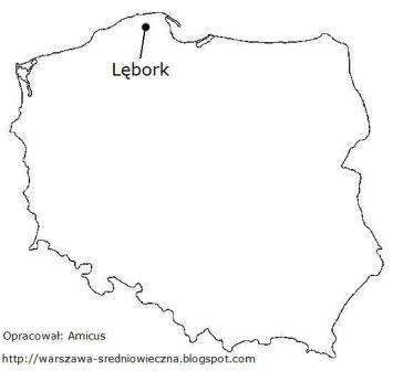 Lębork na mapie Polski