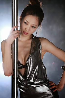 Han Min Young Sexy Model Stripper Pole
