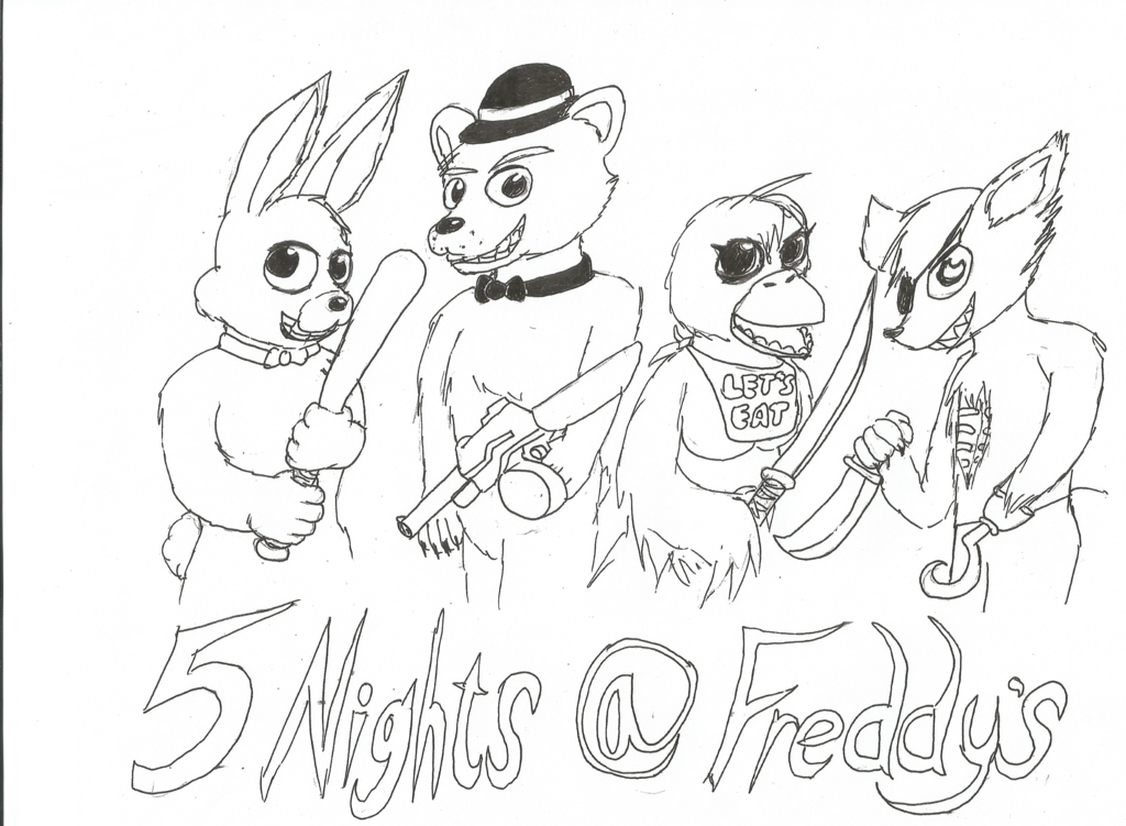 Epic image regarding five nights at freddy's printable coloring pages
