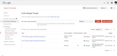 Cara cepat agar postingan blog terindex google
