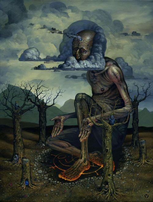 Jeff Christensen js4853 deviantart pinturas surreais sombrias O gigante