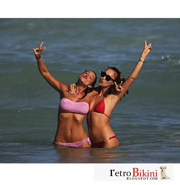 English: Behati Prinsloo Colorful Bikini Dirty Dancing Mexico