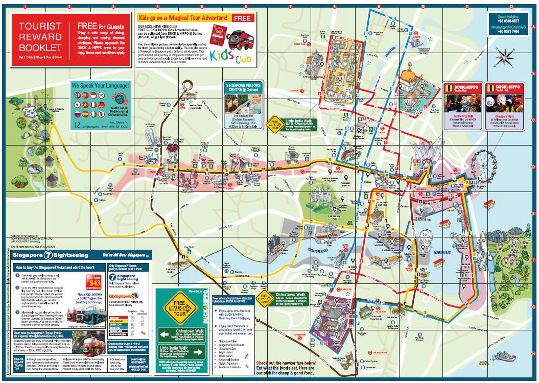 Circuito Singapur : Gran crucero al lejano oriente: paradas del bus turÍstico en singapur