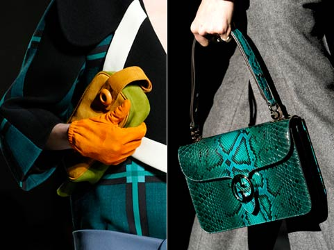 Fashion handbags of fall to winter 2011/2012: coloring