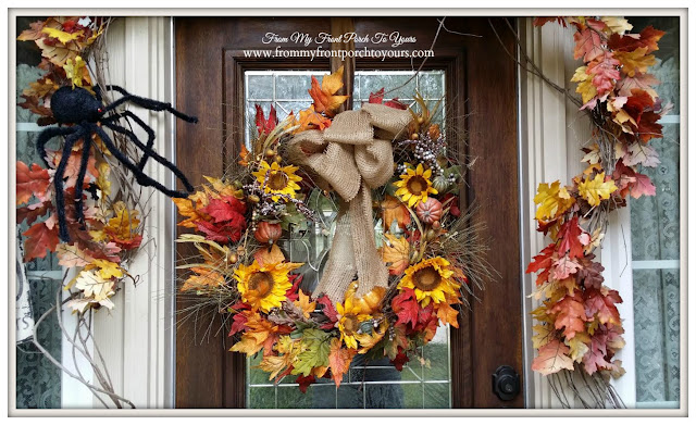 Fall Wreath-Fall Front Porch- From My Front Porch To Yours