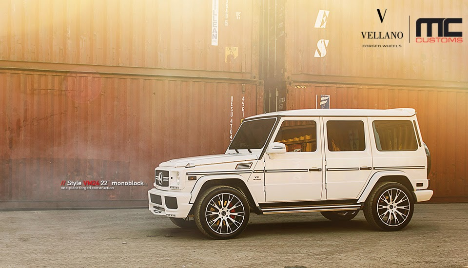 Mercedes benz g63 amg white on vellano rims benztuning for White rims for mercedes benz