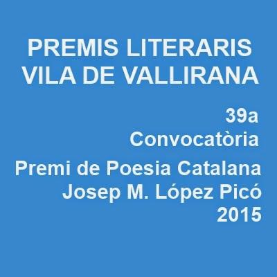 Premis Literaris Vila de Vallirana 2015