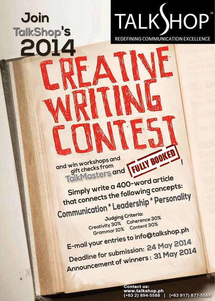 TalkShop Creative Writing Contest 2014