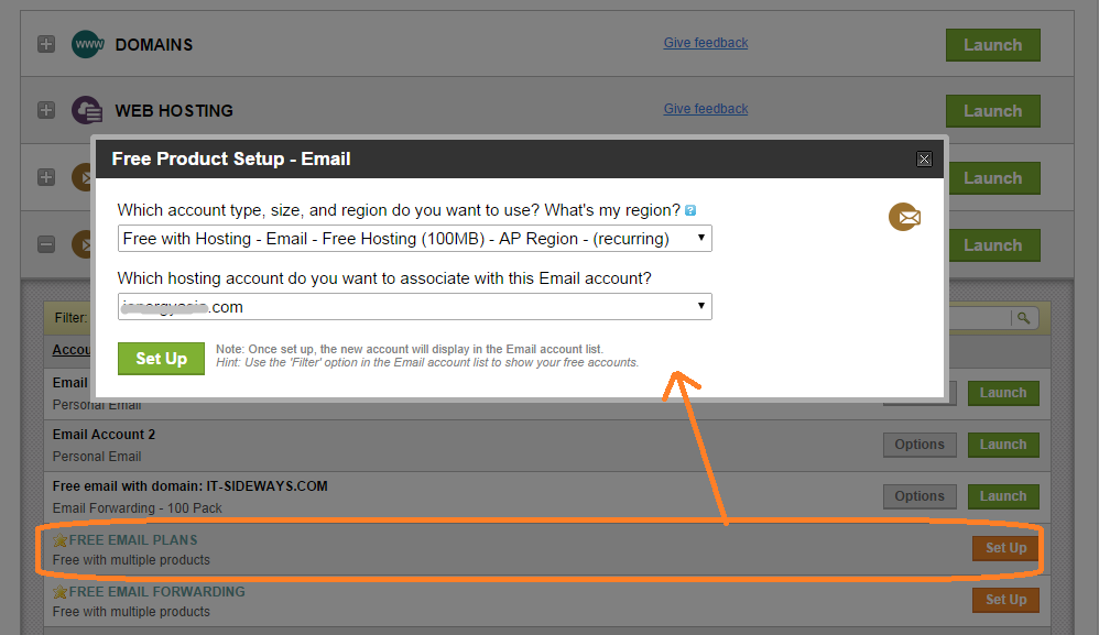 how to create email account in godaddy
