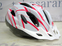 Wimcycle FBS500 852 Line Red/White Bike Helmet