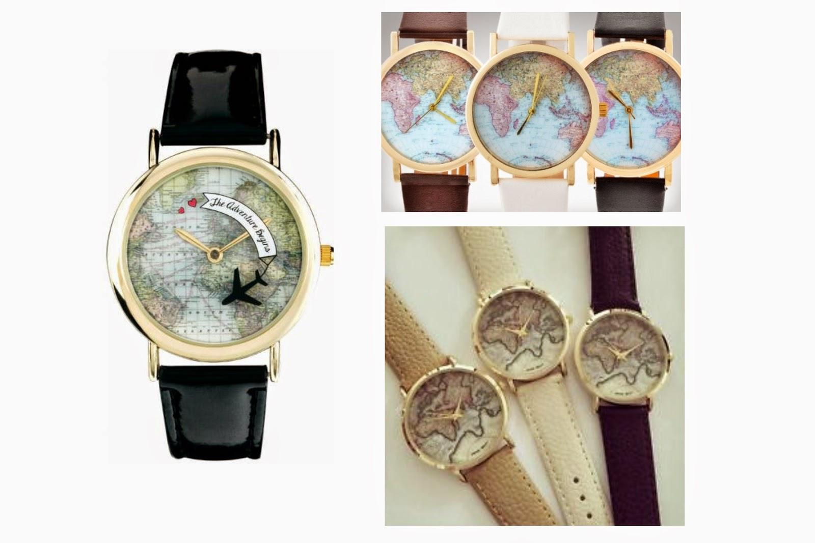 Regalos para viajeros: reloj mapamundi