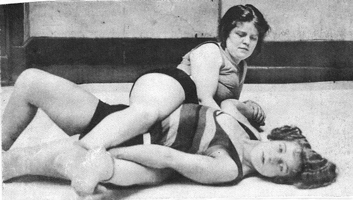Mixed wrestling girl big
