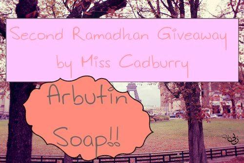 http://allisfarhanah.blogspot.com/2014/07/arbutin-soap-giveaway.html