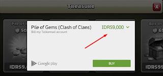 Cara Mudah Membeli Gems Clash of Clans Dengan Pulsa Telkomsel, Indosat Dan XL