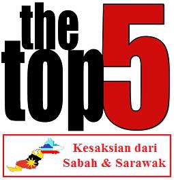 Top 5 - Kesaksian Sabah & Sarawak Paling Popular Di Blog Dari 9 April 2011 ke 25 Mei 2015
