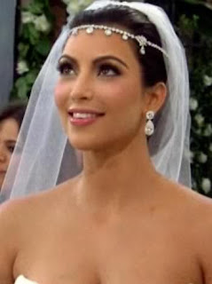 kim kardashian hair wedding