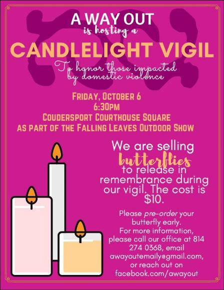 10-6 Candlelight Vigil, Coudersport