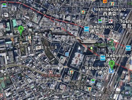 Mapa Ikebukuro