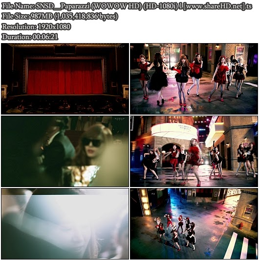 Download PV SNSD / Girls' Genration - Paparazzi (WOWOW Full HD 1080i)