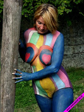 Annick et le body-painting